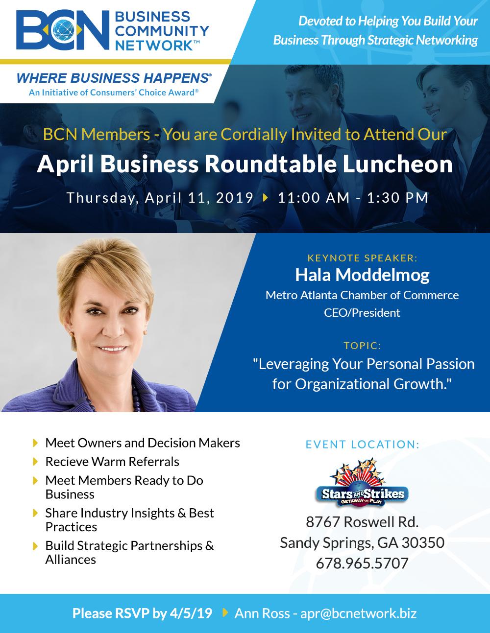 atlanta april business networking event